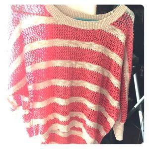 Hi low sweater see through